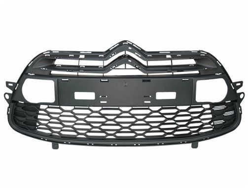 grille noire de pare chocs avant centrale pour citroen ds3 de 03 2010 a 06 2014. Black Bedroom Furniture Sets. Home Design Ideas