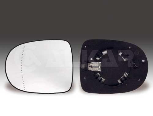 glace de retroviseur droit chauffant pour renault clio 3 de 04 2009 a 10 2012. Black Bedroom Furniture Sets. Home Design Ideas